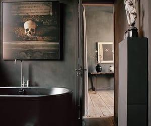 bath, interior, and black image