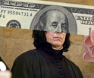 harry potter, snape, and dollar image