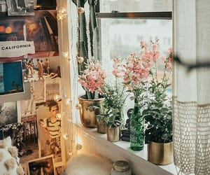 bedroom, creative, and flowers image