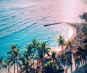 beach, hawaii, and ocean image