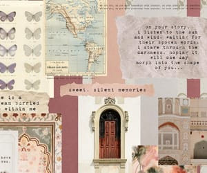 Collage, pastel, and quotes image