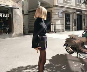 black, fashion, and blonde image