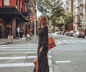 fashion, floral dress, and maxi dress image