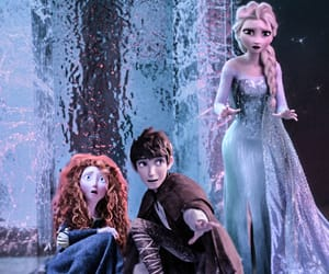 jack frost, merida dunbroch, and queen elsa image