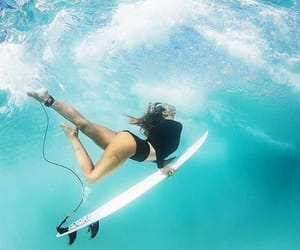 surfing, girl, and surf image