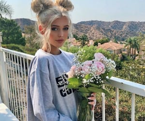 flowers, loren gray, and hair image
