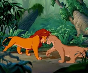 disney, nala, and simba image
