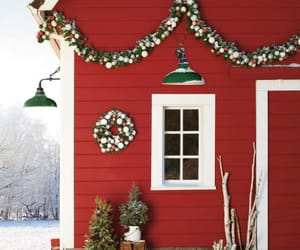 barn, country, and holiday image