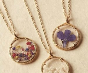 fashion, flowers, and necklace image