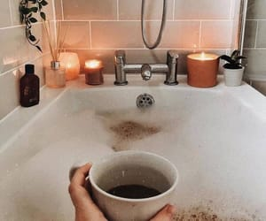 bath, candles, and coffee image