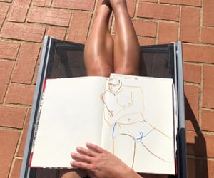 art, brown, and inspo image