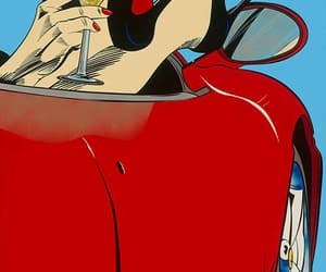 pop art, red, and woman image