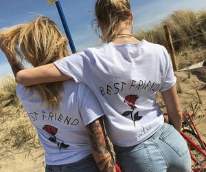 beauty, besties, and friendship image