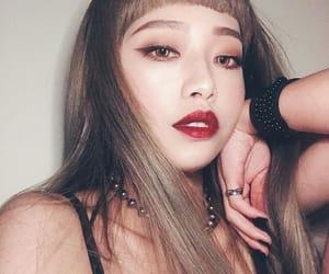 asian, dark, and girl image