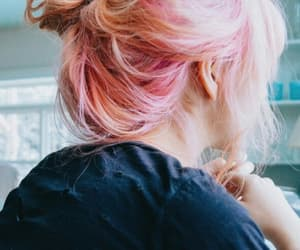 pink, hair, and pink hair image