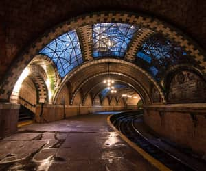 new york, subway, and city hall station image