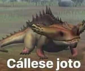 meme, dinosaurio, and reaccion image
