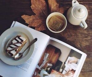 autumn, tea, and cake image