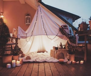 light, candle, and tent image