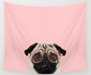 bedroom, pug lover, and wall tapestries image
