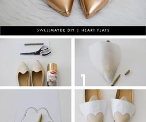 gold, heart, and sapatilha image
