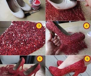 glitter, red, and salto image