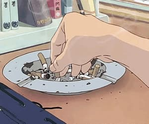 animation, anime, and cigarette image