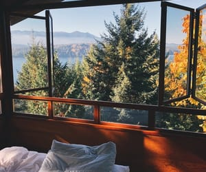 nature, bed, and bedroom image
