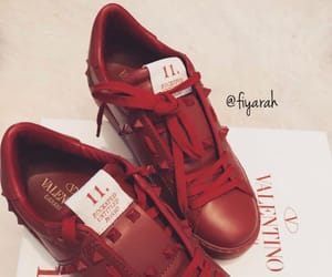shoes sneakers, fashion style, and valentino rouge image