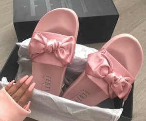 pink, fenty, and shoes image
