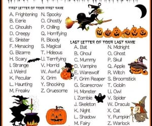 Halloween, name, and a-z image