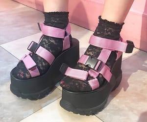 black, pink, and fashion image