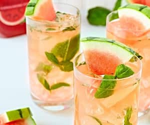 watermelon, drinks, and ice image