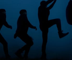 blue, fog, and jumping image