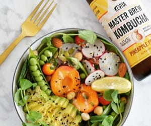 avocado, healthy, and kombucha image