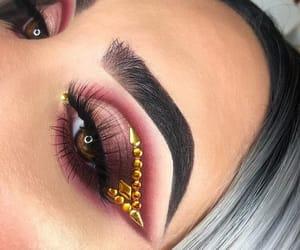 eyeshadow, gold, and cut crease image