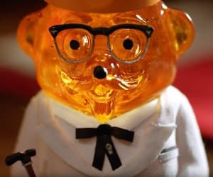 advertising, Colonel Sanders, and honey bear image