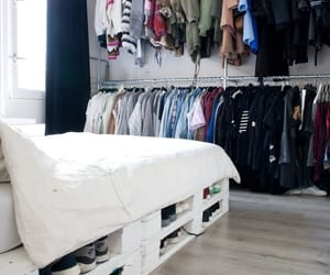 clothes, bedroom, and home image