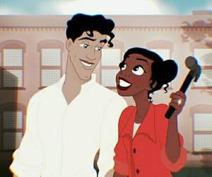 cartoon, couple, and fade image