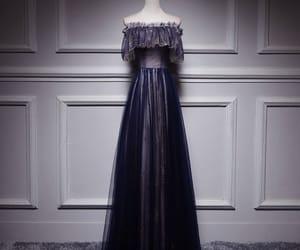 evening dress, evening dresses, and off the shoulder dress image