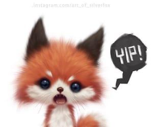 adorable, cartoon, and fox image
