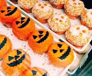 Halloween, pumpkin, and cupcake image