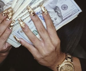 money, gold, and nails image