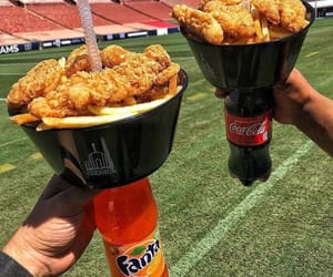 Chicken, cola, and drink image