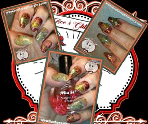 autumn colors, halloween nails, and coffin shaped image