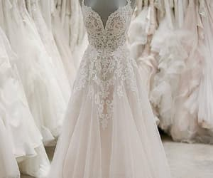 wedding dress, ivory wedding dresses, and v-neck wedding dresses image