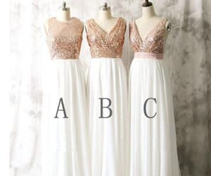 ivory prom dress and sequin prom dress image