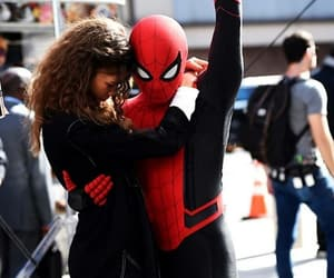 spiderman, peter parker, and zendaya image