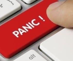 meme, reaction, and panic image