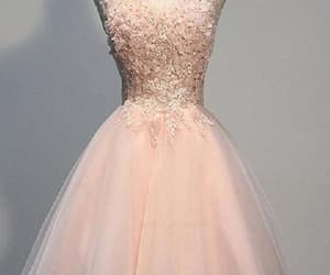 short prom dresses, pink prom dresses, and cute homecoming dress image